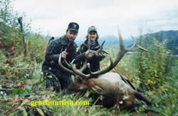 Geno and Hunter with a Good Bull Elk