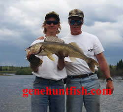 Geno and John    His Trophy Walleye