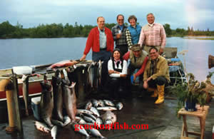 Guest with Geno In Alaska Salmon Fishing