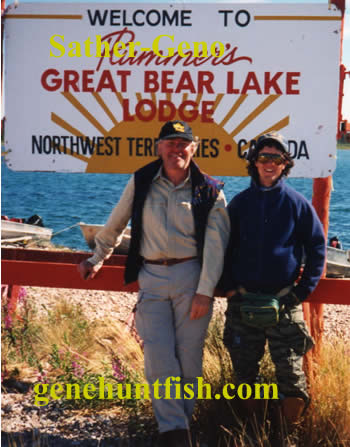 Geno and Glen Sather       AT Great Bear Lake NWT